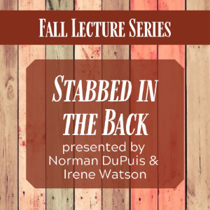 "Lecture: ""Stabbed in the Back"""