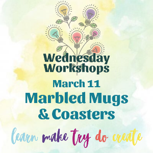Wednesday Workshop: Marbled Mugs and Coasters